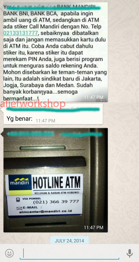 Hoax Bank Mandiri