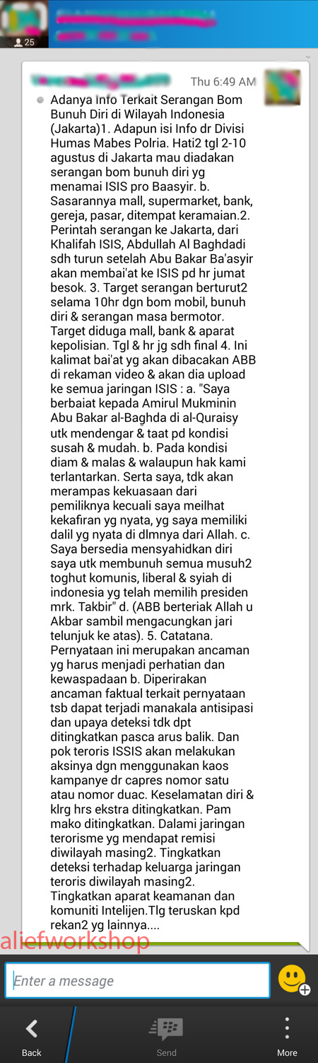 Hoax ISIS 1