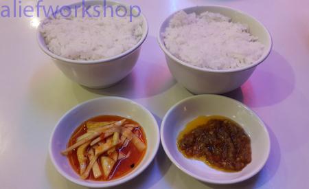 Nasi, Sambal Mangga & Sambal Rica