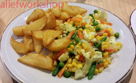 Mixed Vegetables & Potato Wedges