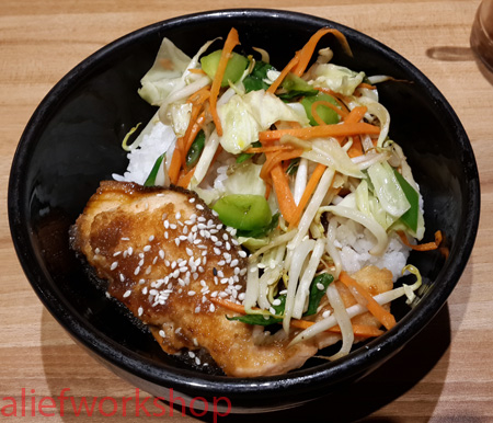 Salmon Teriyaki Donburi