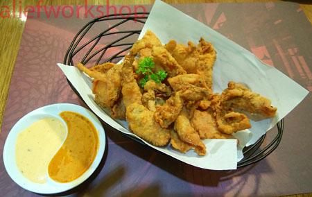 Crispy Chicken Skin with Peri-Peri Dipping Sauce