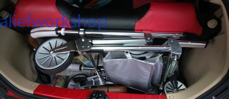 Gagang Stroller Perdana Kami di Bagasi Honda Brio