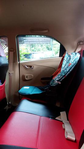 Seatbox Stroller Perdana Kami di Bagasi Honda Brio