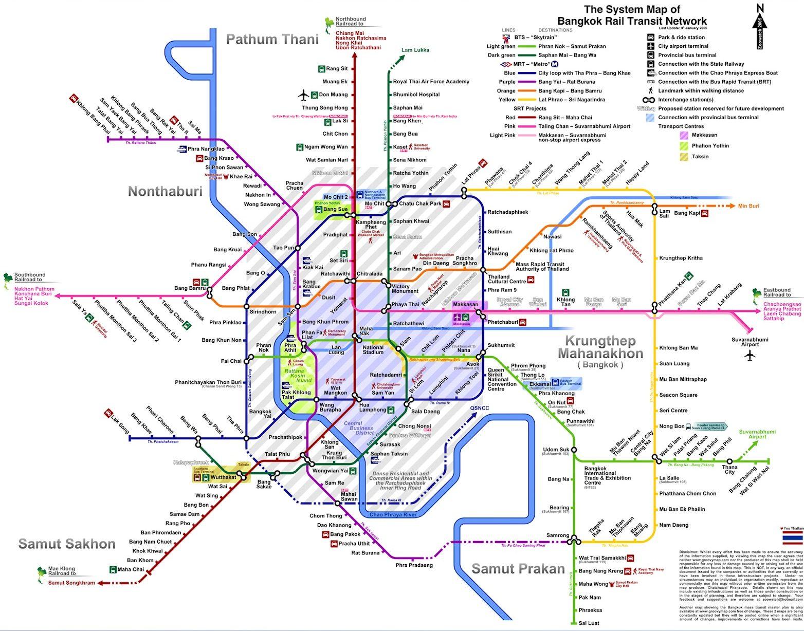 Peta Tempat Wisata Di Bangkok - Info Wisata Unik di Indonesia